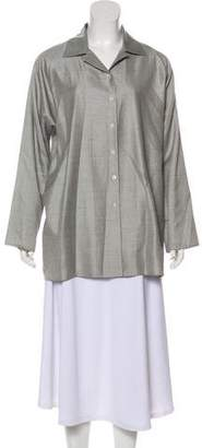 Shamask Wool & Silk Button-Up Top