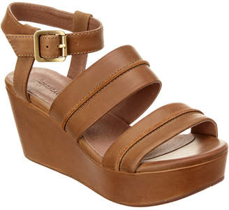 Chocolat Blu Wave Leather Wedge Sandal