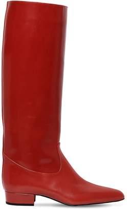 Nina Ricci 20mm Polished Leather Tall Boots