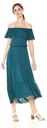 Three Dots Women's Vintage Jersey Long Loose Dress