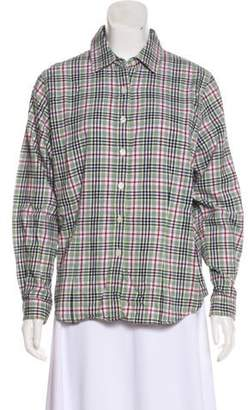 Pendleton Plaid Button-Up Top