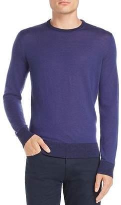 Theory Rothley Color-Block Merino Wool Crewneck Sweater