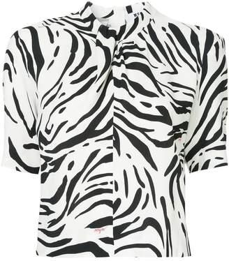 MSGM zebra print top