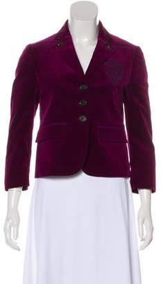 Gucci Velvet Notch-Lapel Blazer