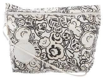 Carlos Falchi Printed Leather Crossbody Bag