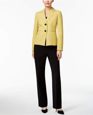 Le Suit Colorblocked Pantsuit $200 thestylecure.com