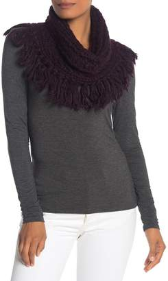 UGG Fringe Trim Snood Scarf