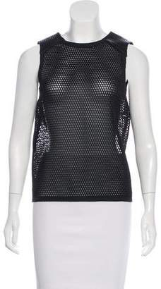 Belstaff Leather-Accented Sleeveless Top