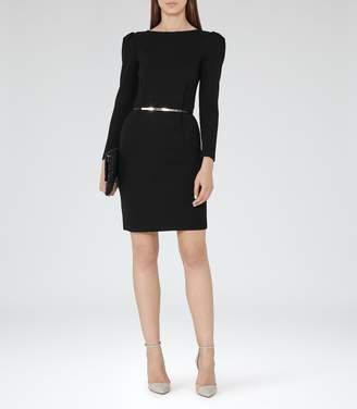 Reiss Nessa Puff-Sleeve Jersey Dress