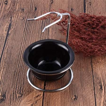 EECOO Shaving Brush Stand Holder, Shaving Brush Razor Rack, Drip Stand Holder Rack Facial Cleaning Tool Storage, Men Barber Tool Mug Cup Soap Bowl Travel Set