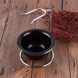 EECOO Shaving Brush Stand Holder,Shaving Brush Razor Rack, Drip Stand Holder Rack Facial Cleaning Tool Storage,Men Barber Tool Mug Cup Soap Bowl Travel Set