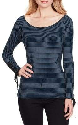 Jessica Simpson Ribbed Wide-Neck Top