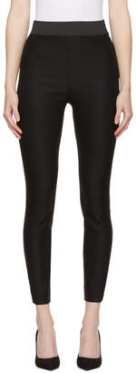 Dolce & Gabbana Black Wool Leggings