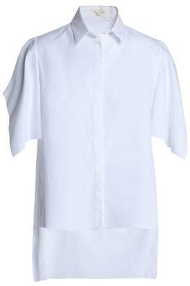 DELPOZO Draped Cotton-Poplin Shirt