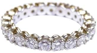 Cartier Platinum Diamond Wedding Eternity Band Ring Size 5.5