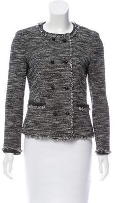 DKNY Leather-Trimmed Tweed Jacket