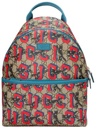 Gucci Kids Children's GG wolves backpack
