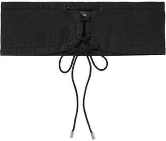 Isabel Marant Zeonor Lace-up Cotton Waist Belt - Black