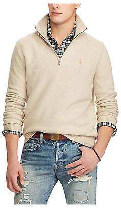 Polo Ralph Lauren (ポロ ラルフ ローレン) - [POLO RALPH LAUREN(メンズ)] タッサー シルク ハーフジップ セーター