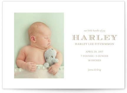 Nantucket Birth Announcement Postcards