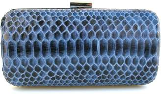 Annie Diamantidis Blue Python Skin Clutch