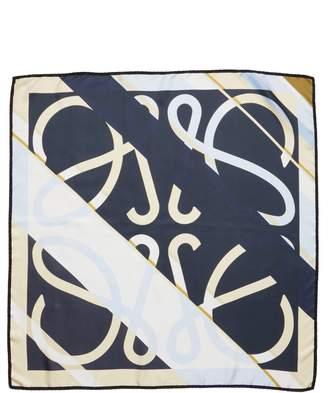 Loewe Stripe Monogram Square Scarf