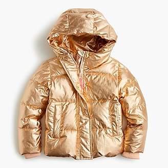 J.Crew Girls' metallic puffer jacket with Primaloft®