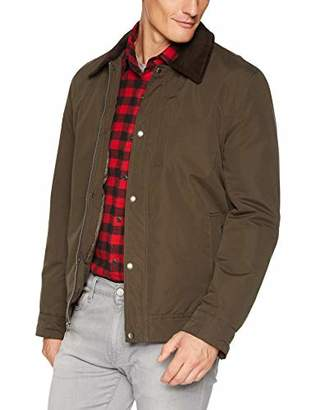 Cole Haan Men's City RAIN BARN Jacket with Corduroy Collar