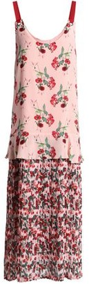 Mother of Pearl Floral-Print Paneled Silk-Crepe And Georgette Maxi Dress