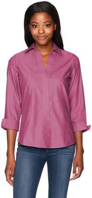 fb9d26b575fb0 Foxcroft Women s Plus Size Taylor Essential Non-Iron Shirt