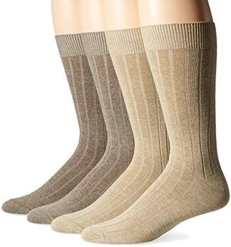 Dockers 4 Pack Dress Wide Rib Crew Socks