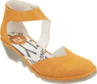 Fly London Leather Closed Toe Wedge - Pats