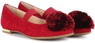Aquazzura Powder Puff suede ballerinas