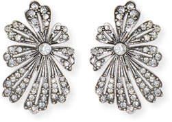 Lulu Frost Camellia Crystal Flower Stud Earrings