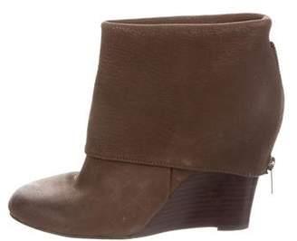Ash Round-Toe Leather Wedges