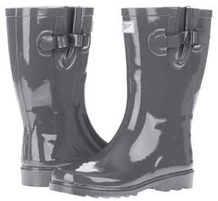 Forever Young Women's Solid Grey Rain Boot