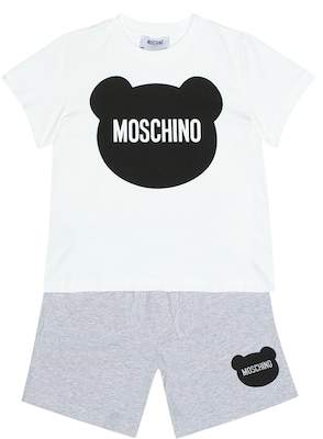 Moschino Kids Printed T-shirt and shorts set