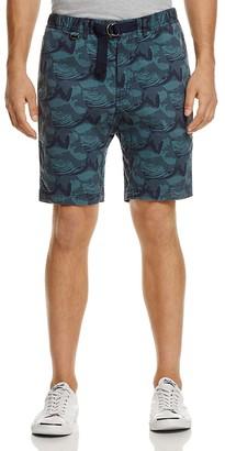 Surfside Supply Wave Print Stretch Cotton Regular Fit Shorts $88 thestylecure.com
