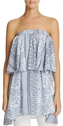 Olivaceous Strapless Bandana Print Top $88 thestylecure.com