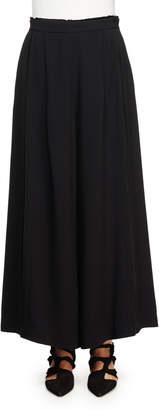Proenza Schouler Wide-Leg Crepe Pants, Black