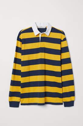 H&M Slub Jersey Rugby Shirt - Blue