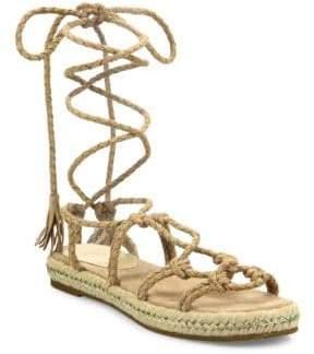 Joie Caesar Suede Lace-Up Espadrille Sandals