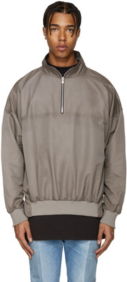 Fear of God Grey Track Jacket $725 thestylecure.com