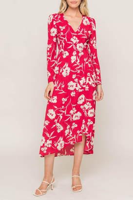 Lush Clothing Printed Wrap Dress