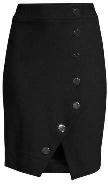 Maje Women's Snap-Button Front Skirt - Black - Size 38 (6)