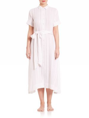 Lisa Marie Fernandez Cotton & Linen Shirtdress $575 thestylecure.com