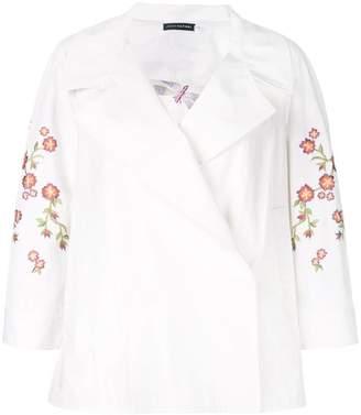 Josie Natori embroidered topper jacket