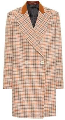 Golden Goose Checked wool coat