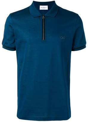 Salvatore Ferragamo Gancio embroidered polo shirt