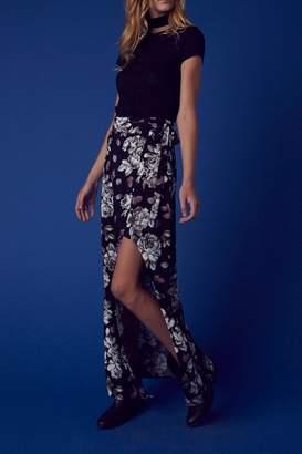 Cotton Candy Floral Wrap Skirt $35 thestylecure.com